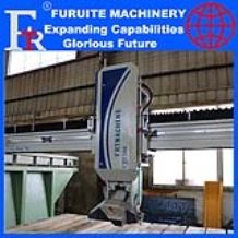 FRT-350 steel frame 45° angle cutting machine infrared laser bridge saw marble granite board sheet slab full automatic