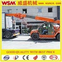 telescopic crane for slab loading and unloading