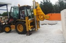 Quarry Chainsaw QST3000D ON CAT432d Backhoe