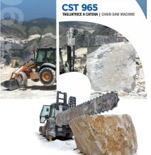 Terna CST 965 Quarry Backhoe Chain saws machine