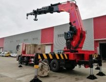 Loading Heavy Cargo Truck Mounted Crane with Wireless Remote